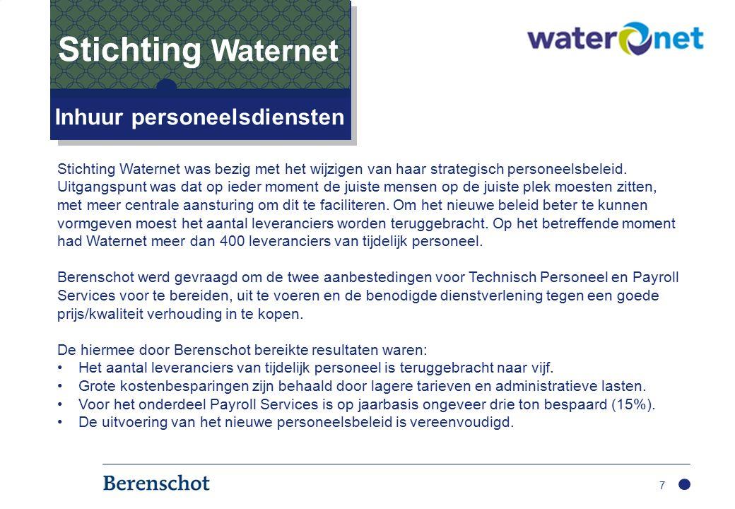 7 Inhuur personeelsdiensten Stichting Waternet Stichting Waternet was bezig met het wijzigen van haar strategisch personeelsbeleid.