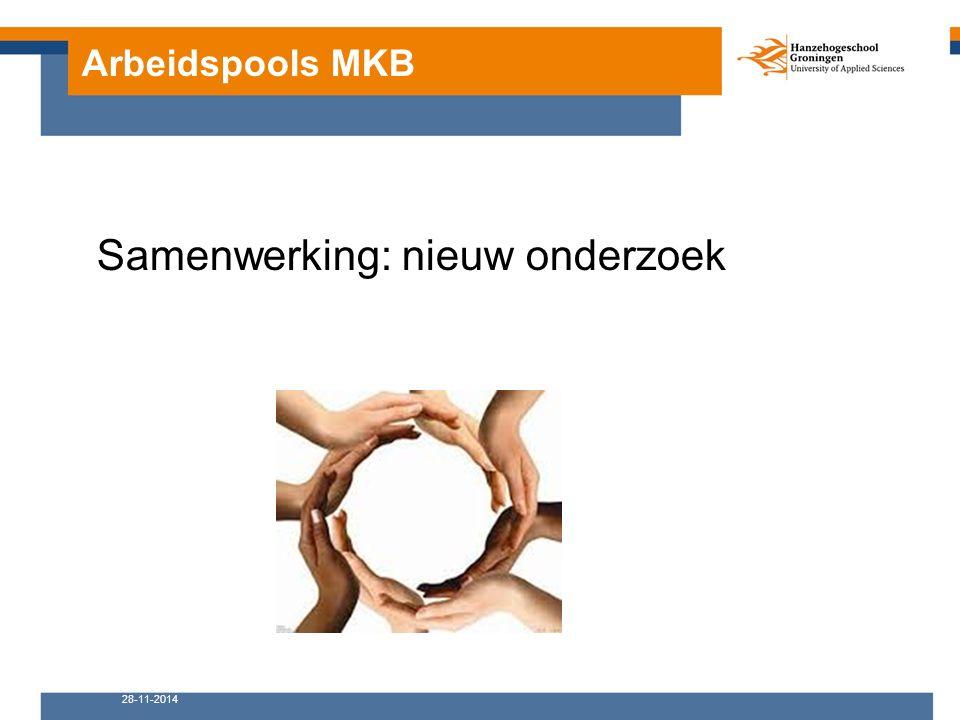 Arbeidspools MKB 28-11-2014 Samenwerking: nieuw onderzoek