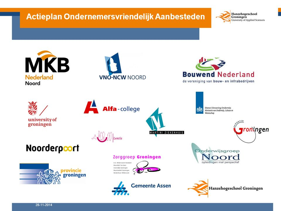 28-11-2014 Actieplan Ondernemersvriendelijk Aanbesteden