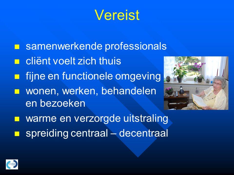 Centraal hoogcomplexe zorg Winschoten 44 PG kleinschalig wonen 40 Revalidatie 87 Long-stay somatiek Totaal 171
