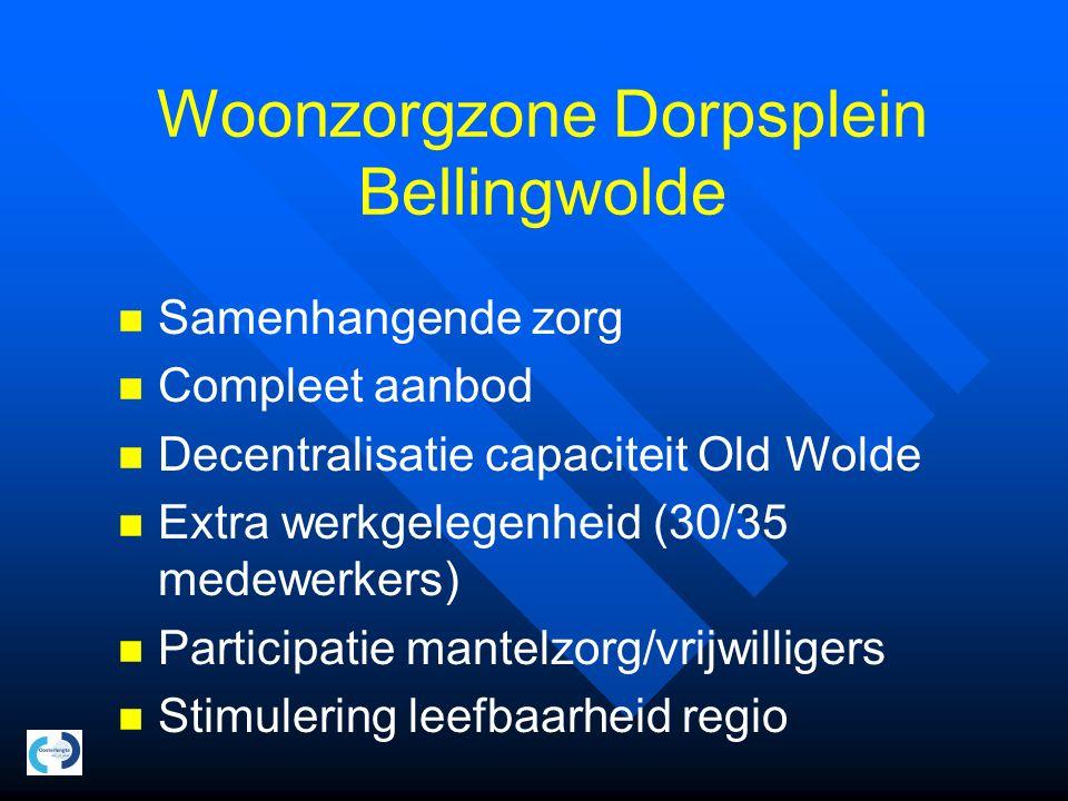 Woonzorgzone Dorpsplein Bellingwolde Woonzorgcentrum 32 plaatsen verpleeghuiszorg 16 levensloopbestendige zorgwoningen HOED Totaal investeringsniveau circa 6 miljoen