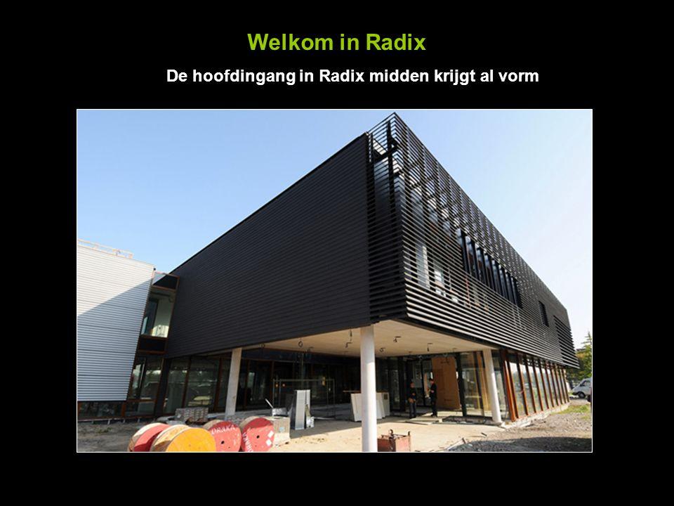 Welkom in Radix De hoofdingang in Radix midden krijgt al vorm