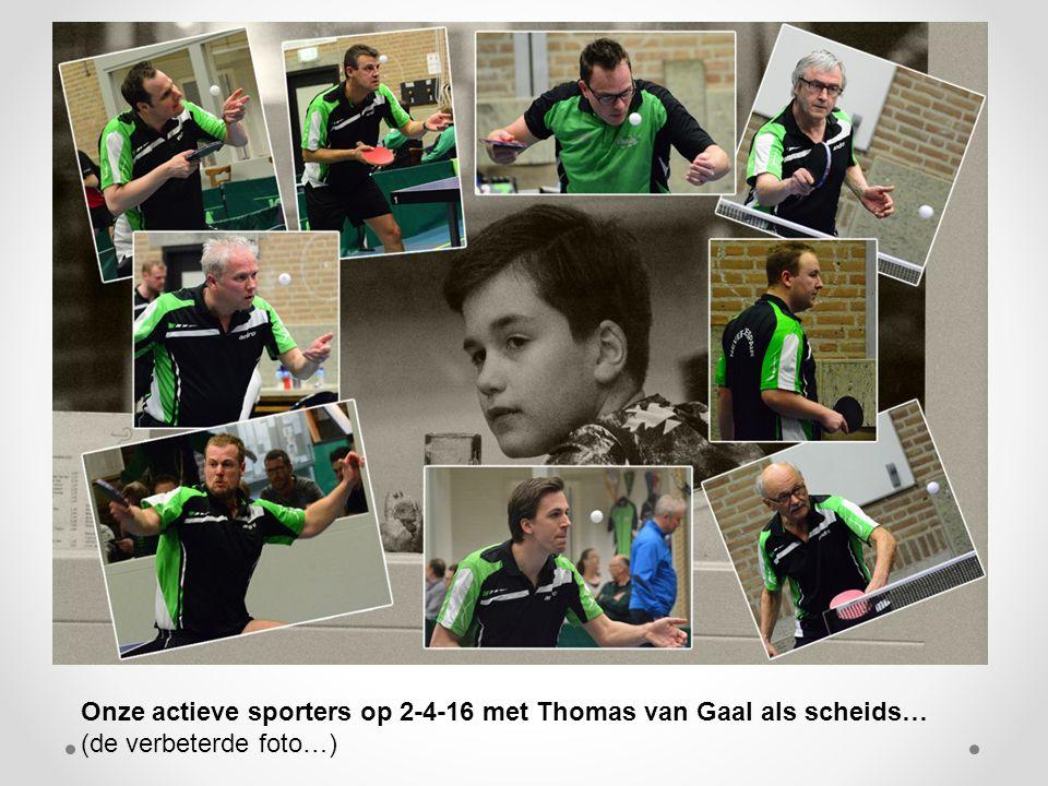 Onze actieve sporters op 2-4-16 met Thomas van Gaal als scheids… (de verbeterde foto…)