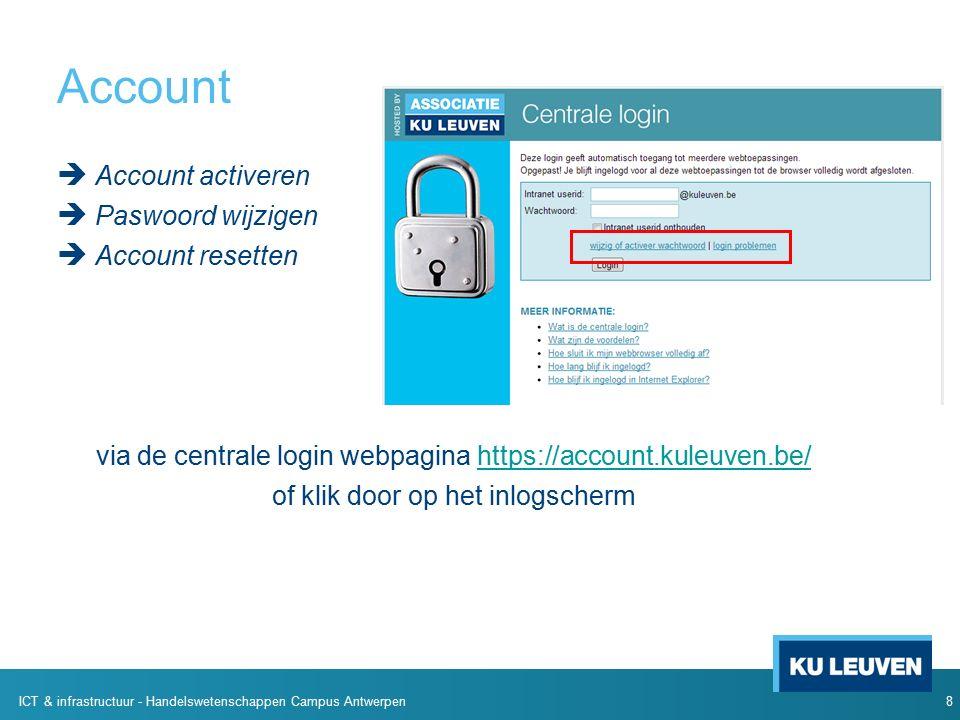 Help Andere ICT noden  Wireless  Hardware computerlokalen  accountbeheer … ICTS centrale diensten: https://admin.kuleuven.be/icts/servicepunt Of de mensen aan de balie van het Studeercentrum.
