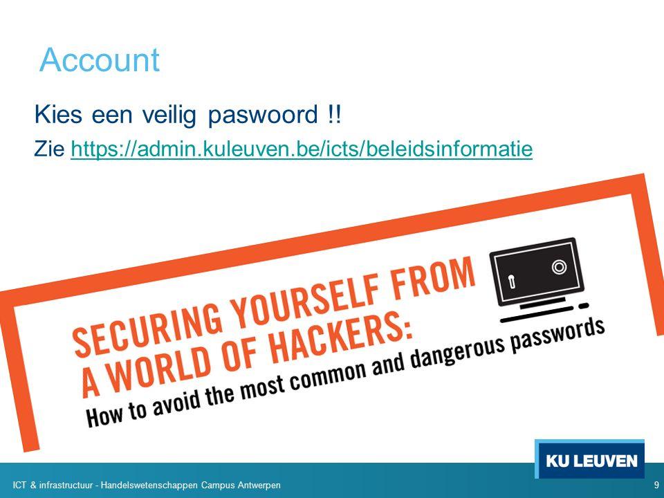 Account Kies een veilig paswoord !.