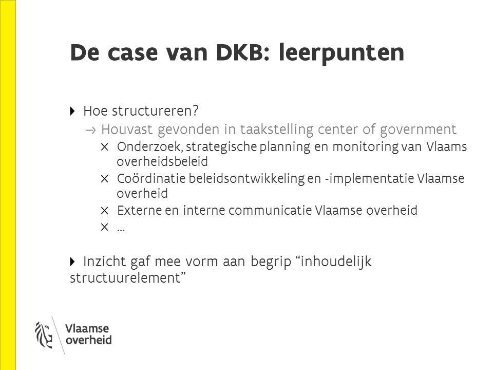 De case van DKB: leerpunten Hoe structureren.