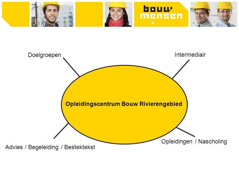 Opleidingscentrum Bouw Rivierengebied Doelgroepen Intermediair Opleidingen / Nascholing Advies / Begeleiding / Bestektekst