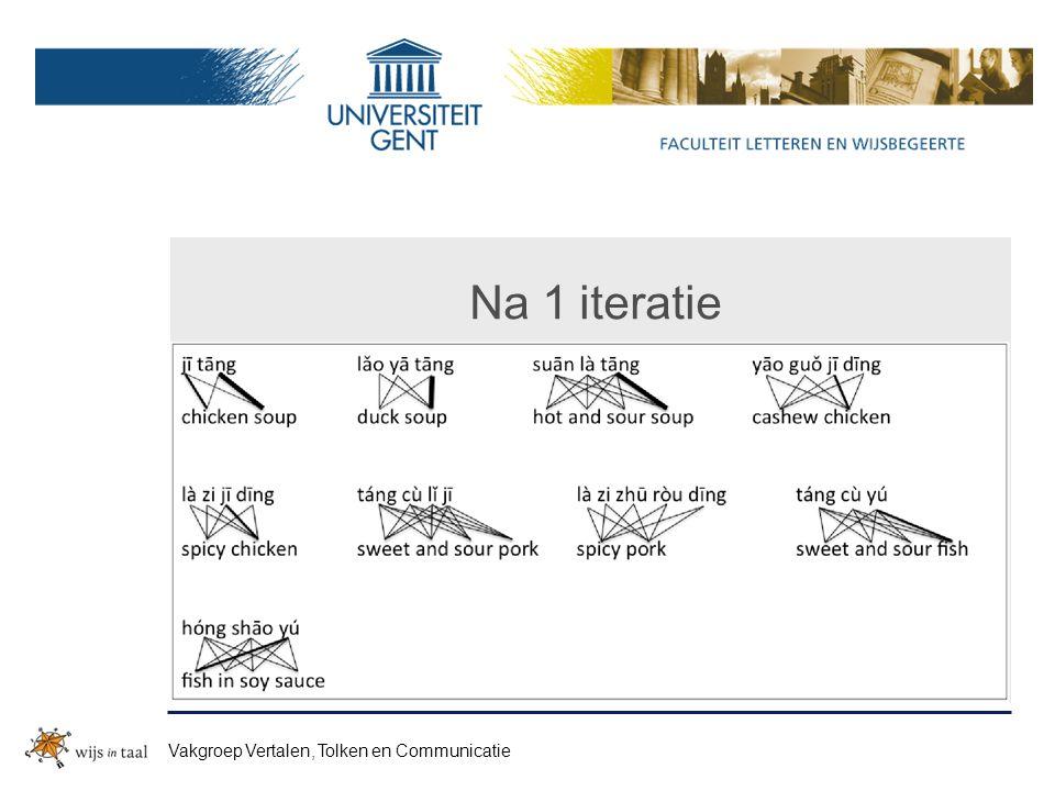 Na 1 iteratie Vakgroep Vertalen, Tolken en Communicatie
