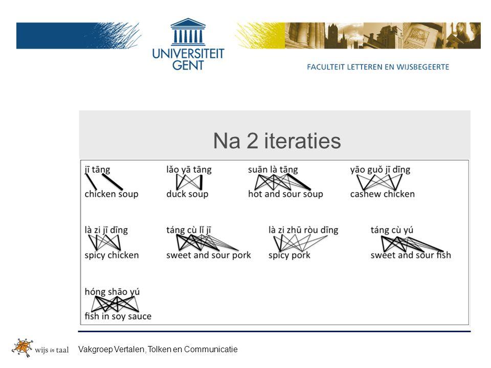 Na 2 iteraties Vakgroep Vertalen, Tolken en Communicatie