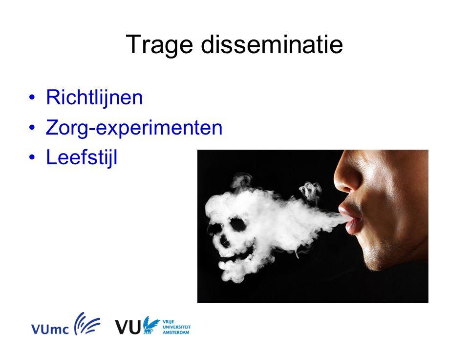 Trage disseminatie Richtlijnen Zorg-experimenten Leefstijl