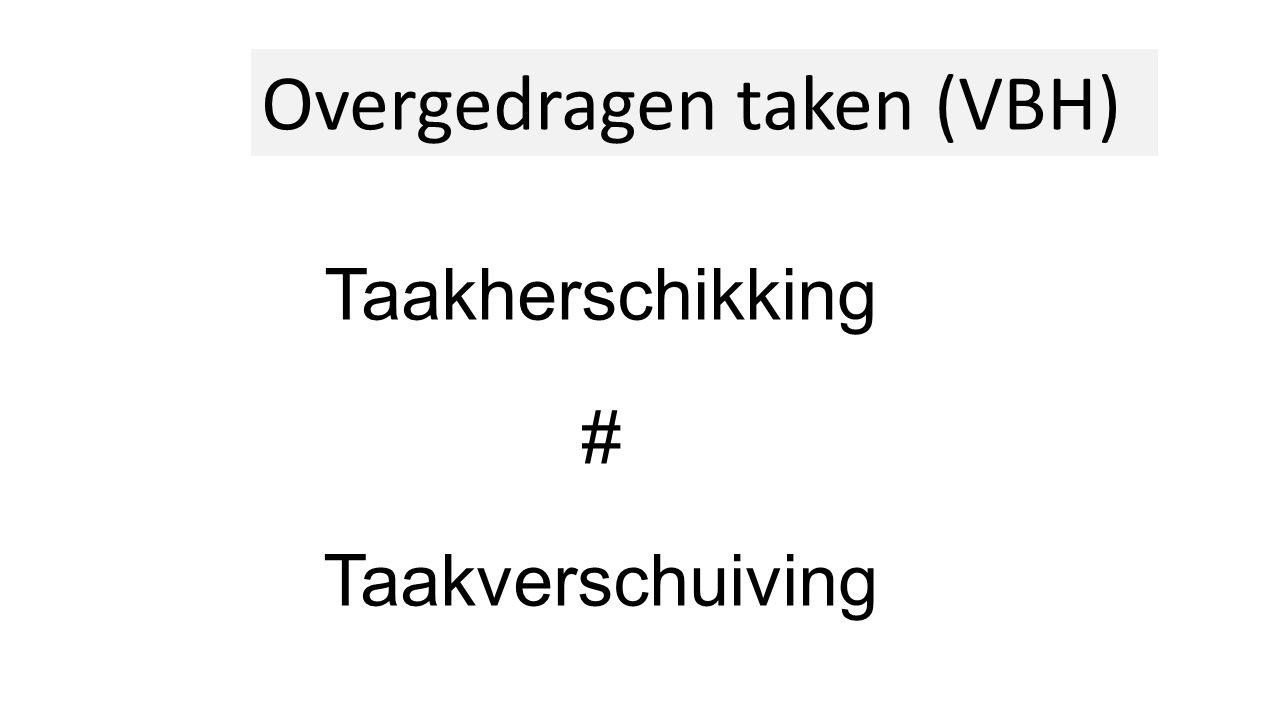 Taakherschikking # Taakverschuiving Overgedragen taken (VBH)