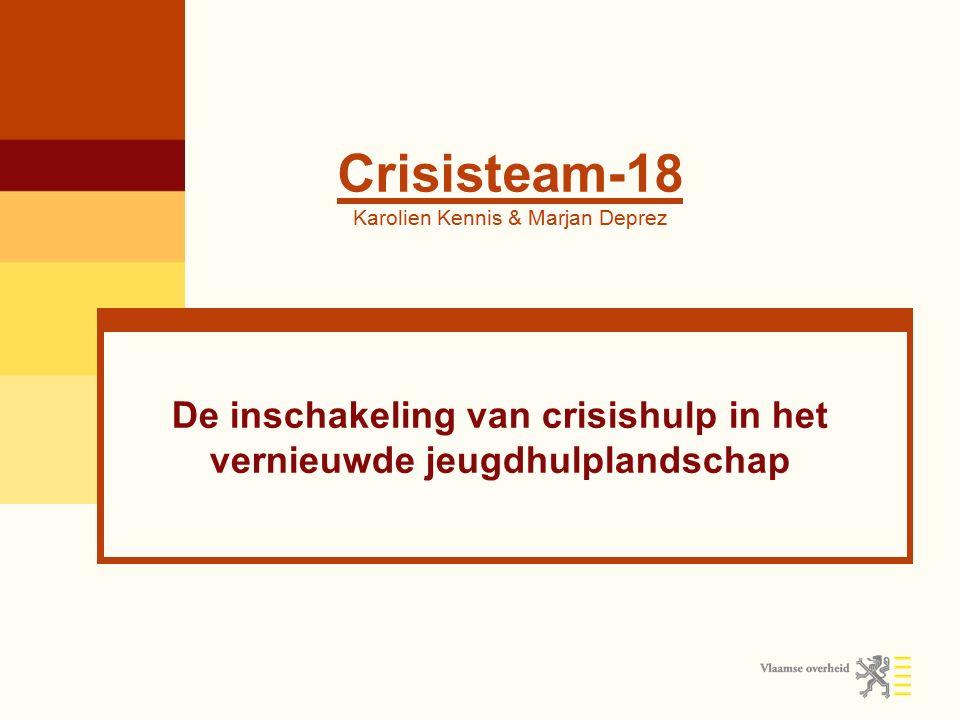Crisisjeugdhulp Provincie Antwerpen 1.Netwerken 2.