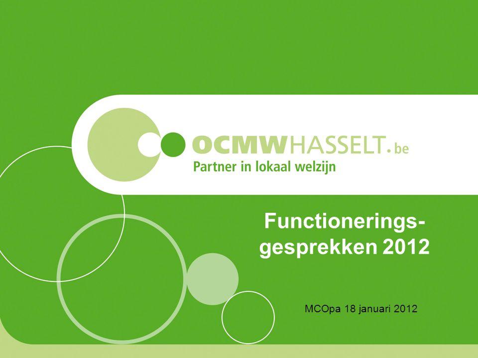 Functionerings- gesprekken 2012 MCOpa 18 januari 2012