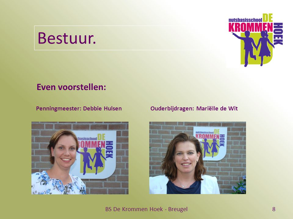 BS De Krommen Hoek - Breugel19 Spreekbeurt/ verslag  Werken aan de spreekbeurt of het verslag gebeurt thuis en op school.