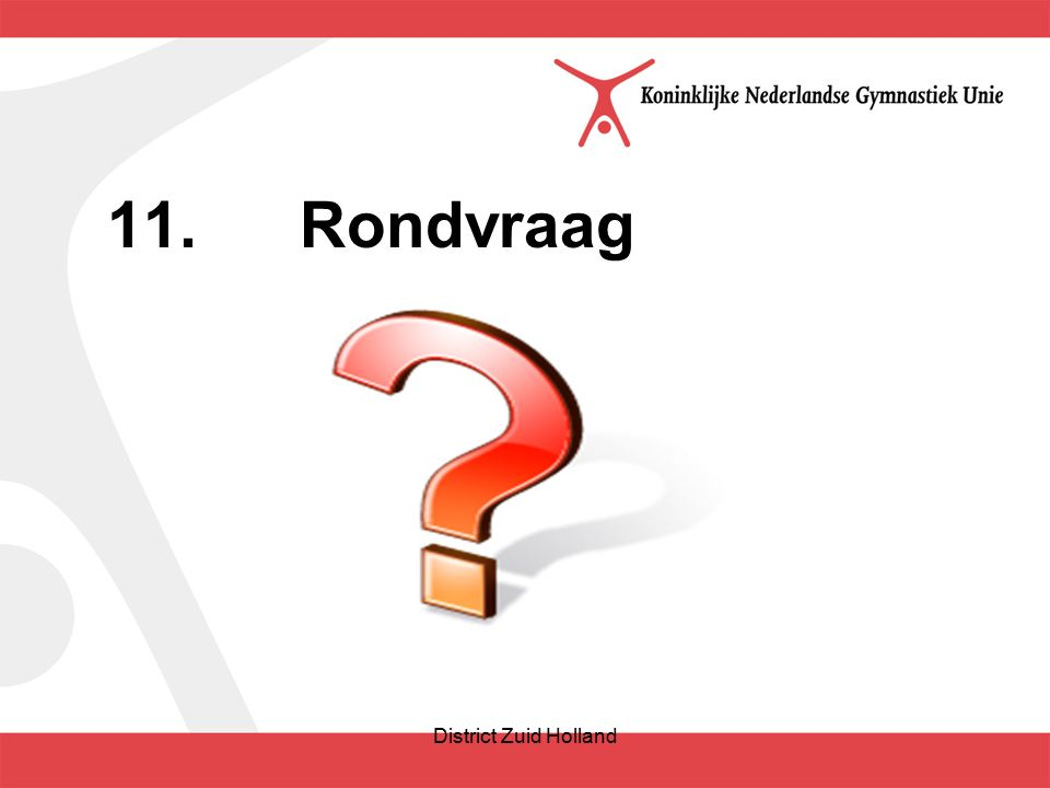 11.Rondvraag District Zuid Holland