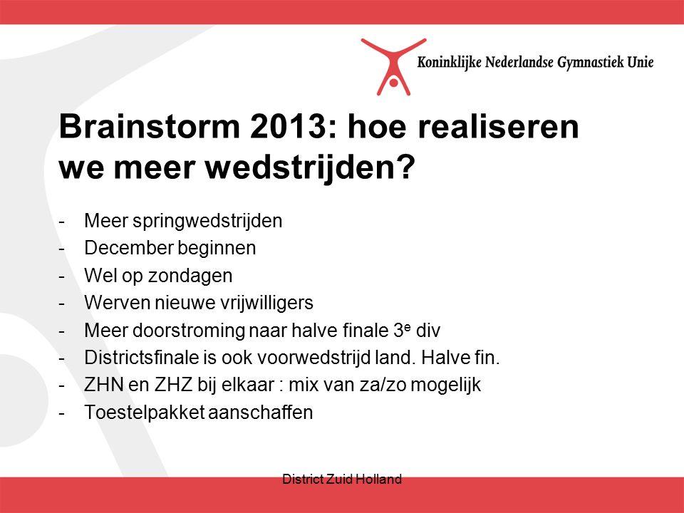 Brainstorm 2013: hoe realiseren we meer wedstrijden.
