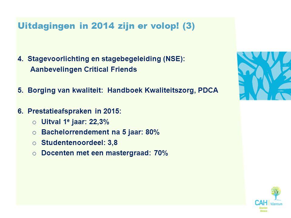 Uitdagingen in 2014 zijn er volop.(3) 4.