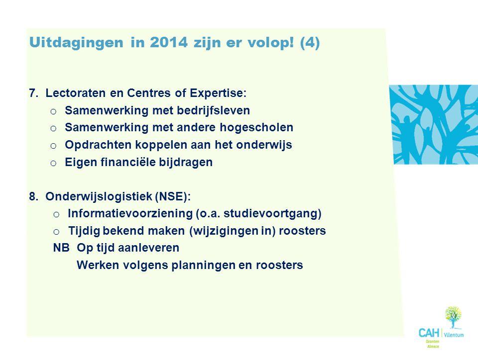 Uitdagingen in 2014 zijn er volop.(4) 7.