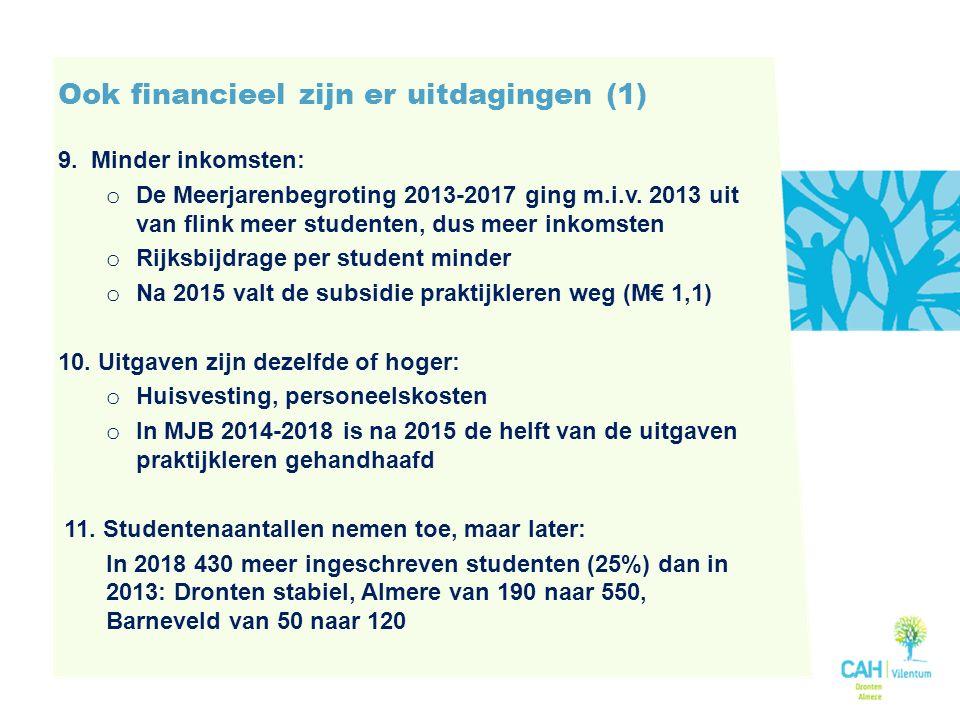 Ook financieel zijn er uitdagingen (1) 9.