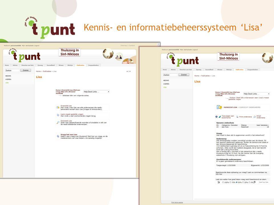 Kennis- en informatiebeheerssysteem 'Lisa'