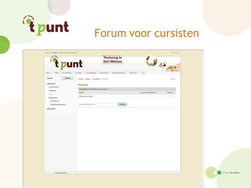Forum voor cursisten