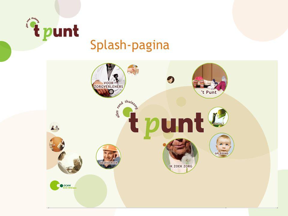 Splash-pagina