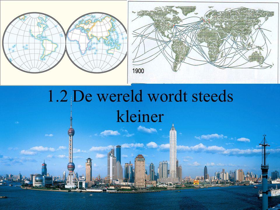 1.2 De wereld wordt steeds kleiner