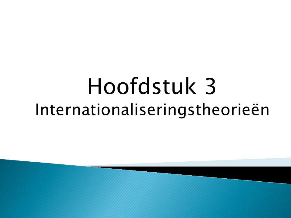 Hoofdstuk 3 Internationaliseringstheorieën