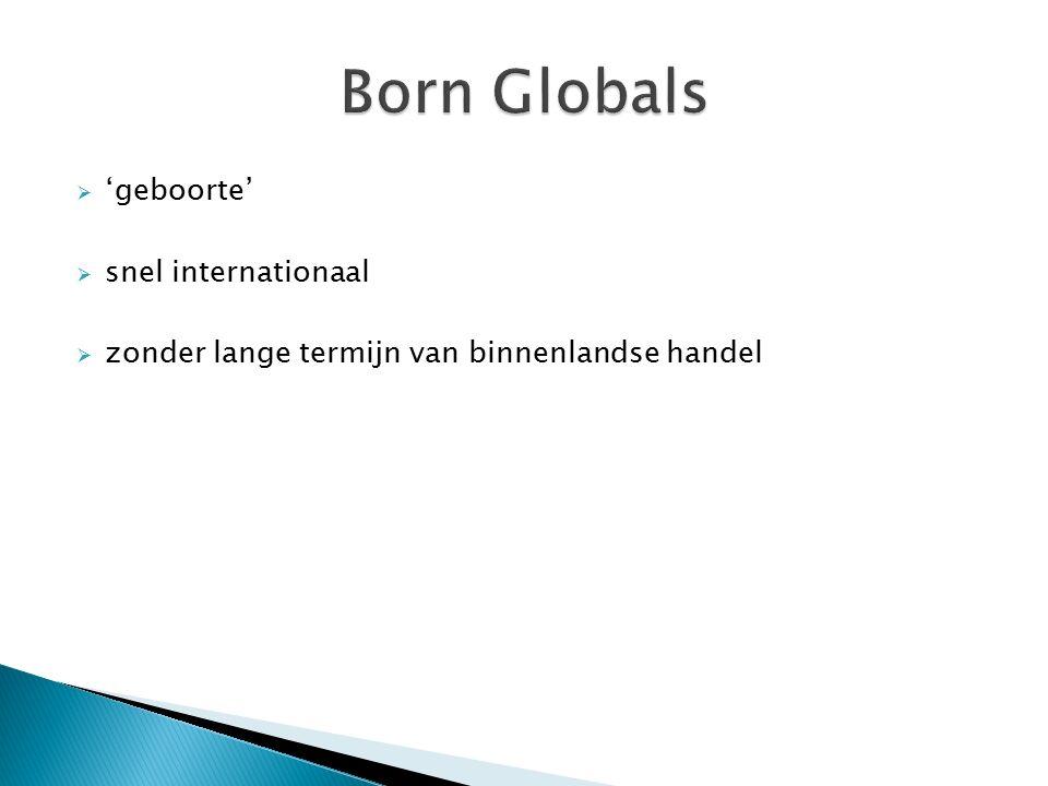  'geboorte'  snel internationaal  zonder lange termijn van binnenlandse handel
