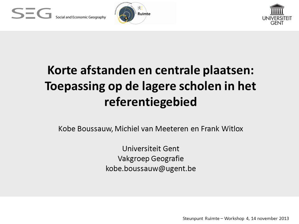 Steunpunt Ruimte – Workshop 4, 14 november 2013 8.