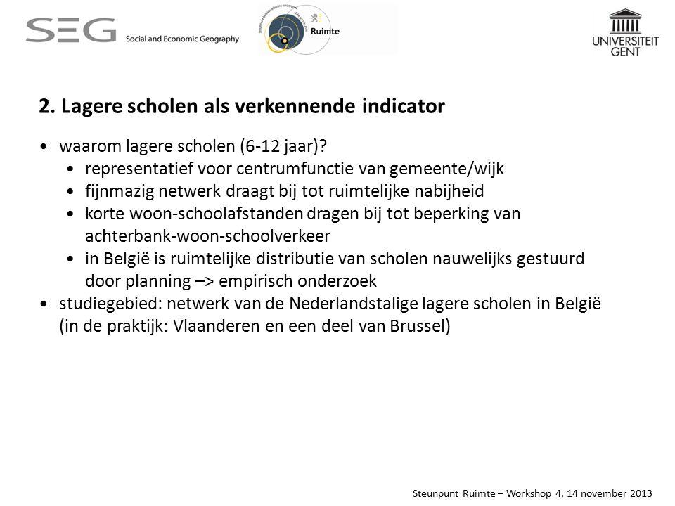 Steunpunt Ruimte – Workshop 4, 14 november 2013 minimum woon-schoolafstand per leerling, regio Hamme