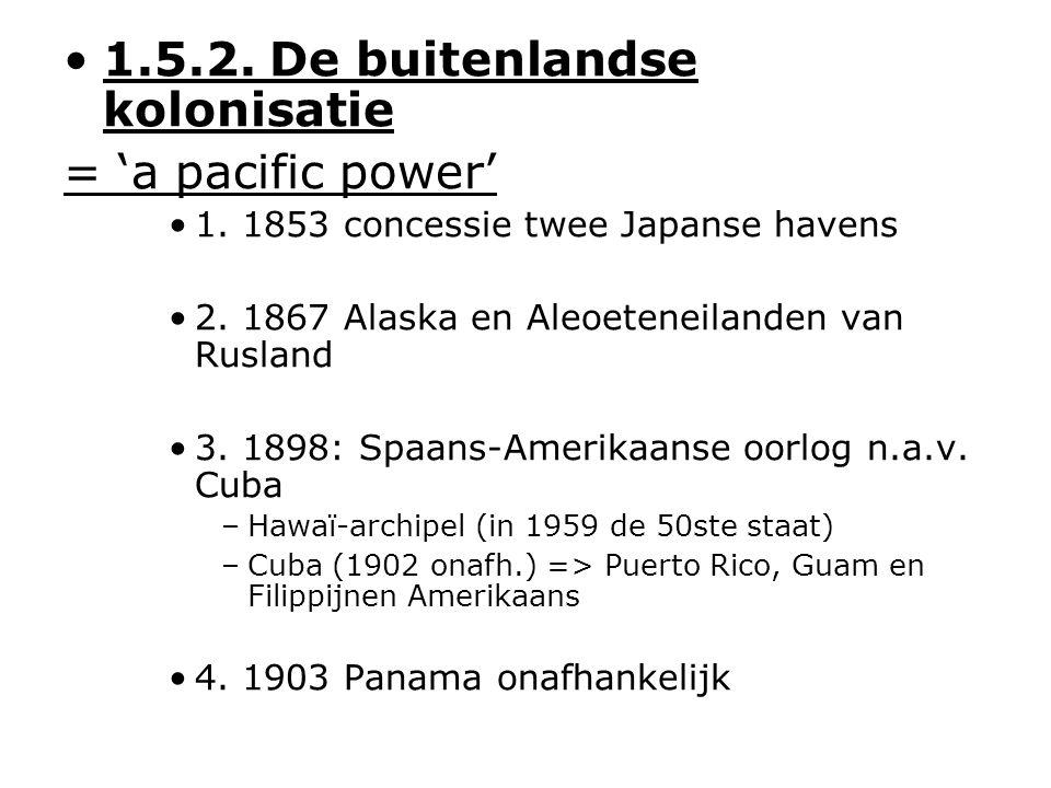 1.5.2. De buitenlandse kolonisatie = 'a pacific power' 1.