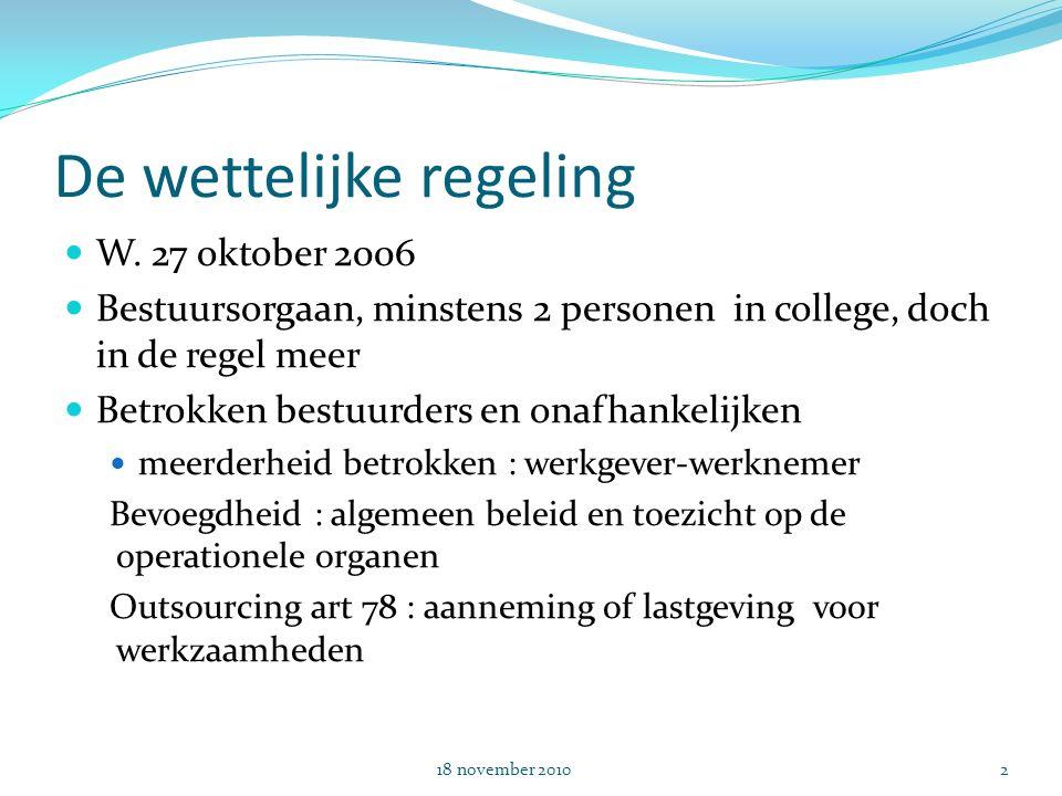 De wettelijke regeling W.