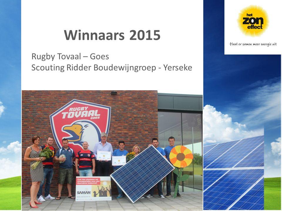 Winnaars 2015 Rugby Tovaal – Goes Scouting Ridder Boudewijngroep - Yerseke