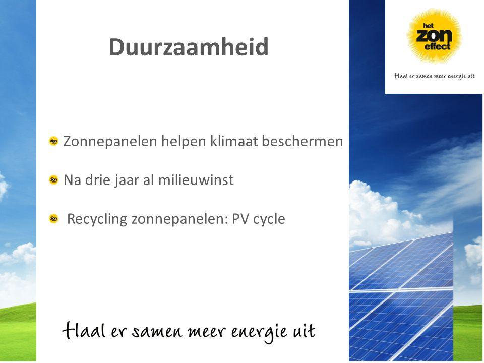 Duurzaamheid Zonnepanelen helpen klimaat beschermen Na drie jaar al milieuwinst Recycling zonnepanelen: PV cycle