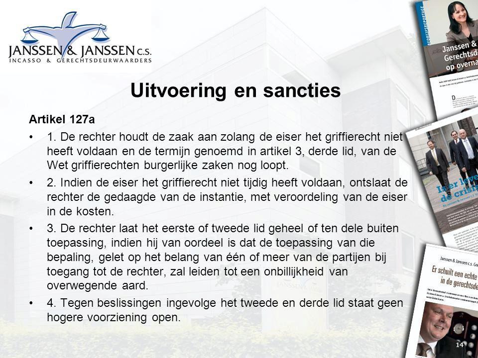 14 Uitvoering en sancties Artikel 127a 1.