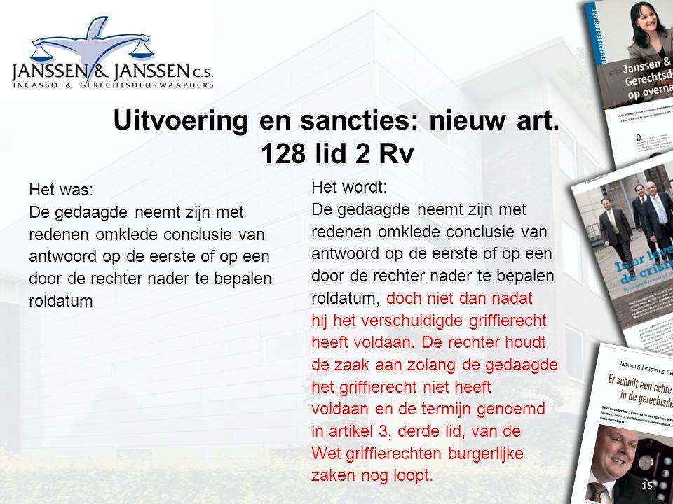 15 Uitvoering en sancties: nieuw art.