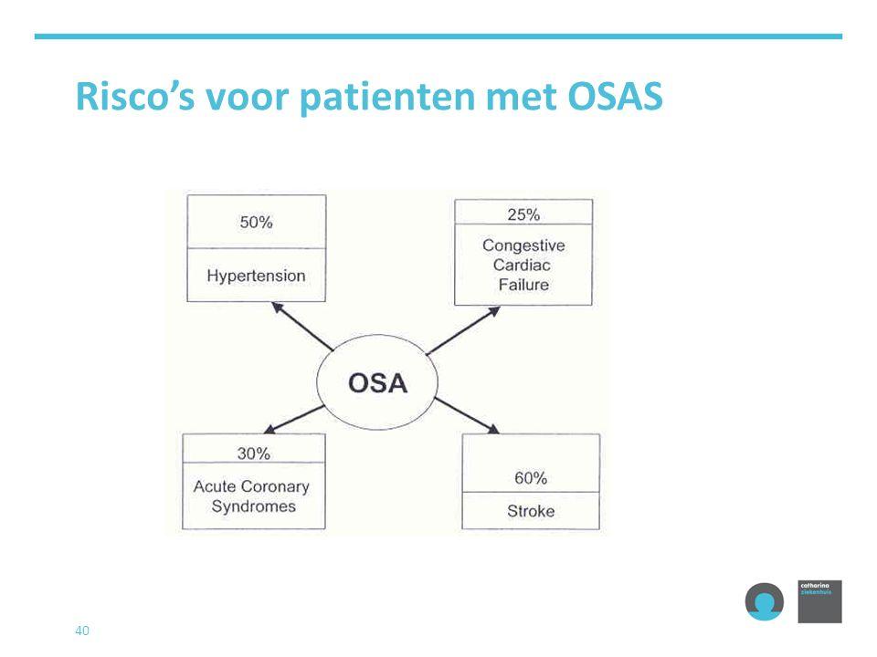 Risco's voor patienten met OSAS 40