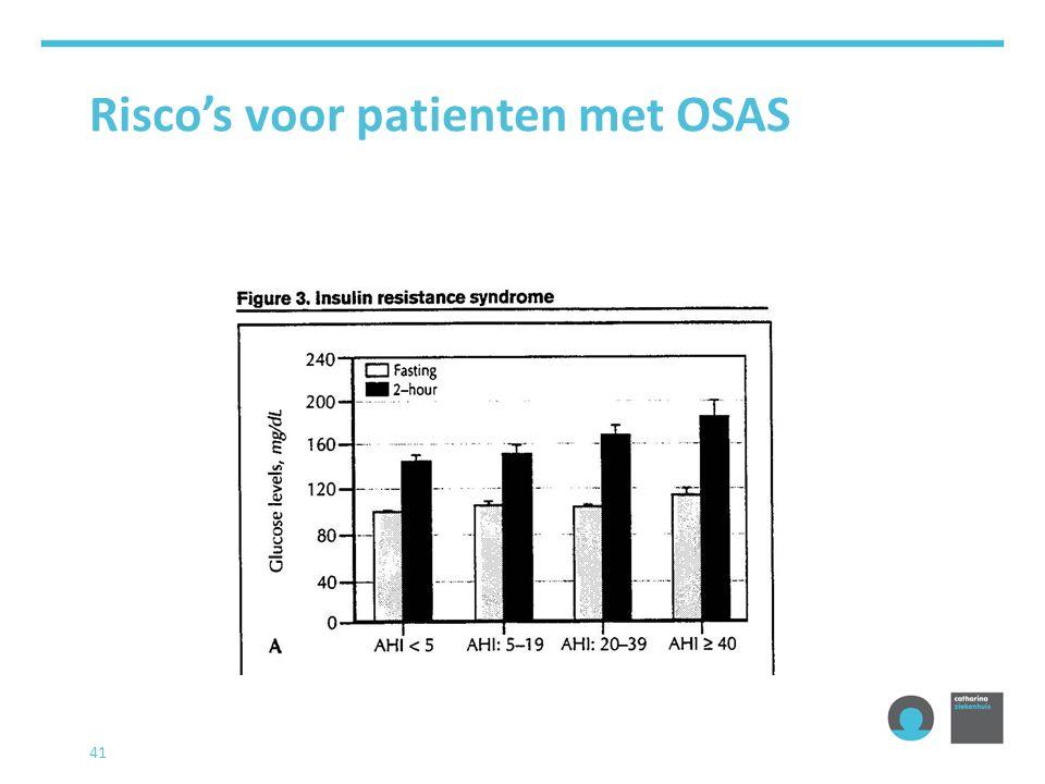 Risco's voor patienten met OSAS 42