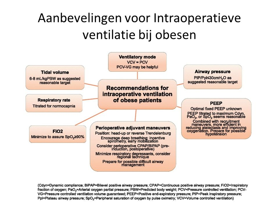 Respiratory consequences of obesity: conclusies Decreased compliance (chest wall >> lung) Increased airway resistance Increased work of breathing Respiratory muscle dysfunction Ventilation perfusion inequality Alterations in gas exchange 10