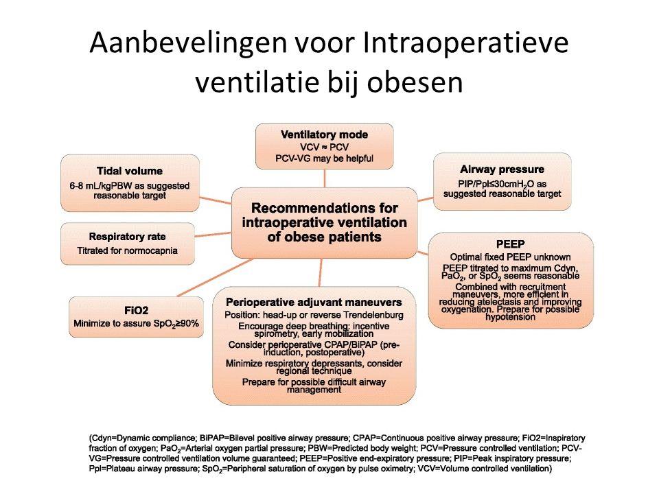 Aanbevelingen voor Intraoperatieve ventilatie bij obesen