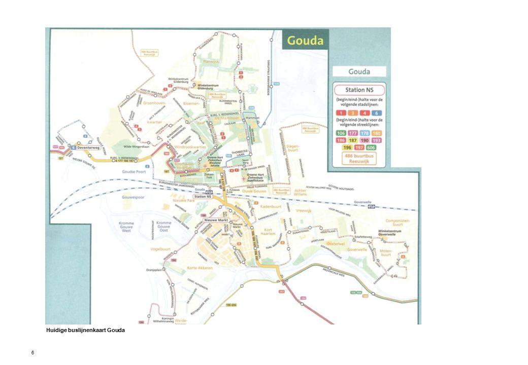 6 Huidige buslijnenkaart Gouda