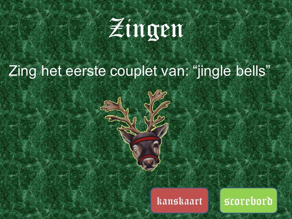 """Zingen scorebord kanskaart Zing met je team het lied: """"oh dennenboom"""""""