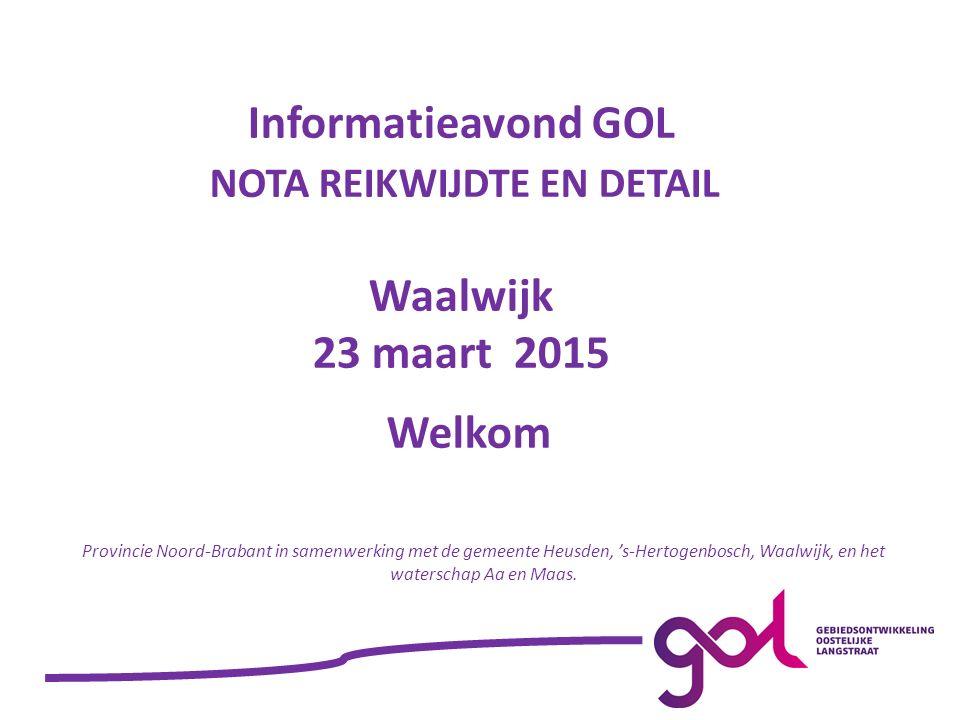 Welkom Provincie Noord-Brabant in samenwerking met de gemeente Heusden, 's-Hertogenbosch, Waalwijk, en het waterschap Aa en Maas.