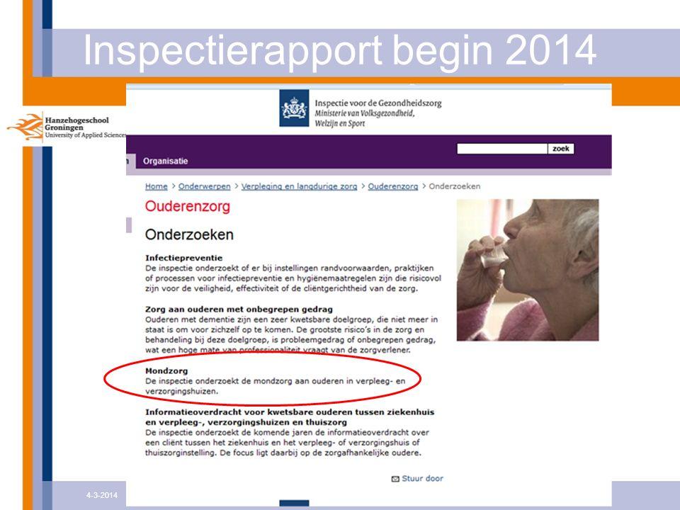 Inspectierapport begin 2014 4-3-2014Krasse Tanden - het perspectief van personeel