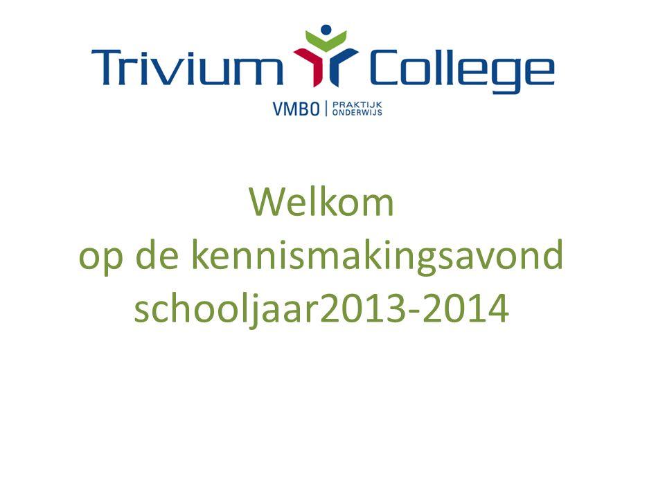 Welkom op de kennismakingsavond schooljaar2013-2014