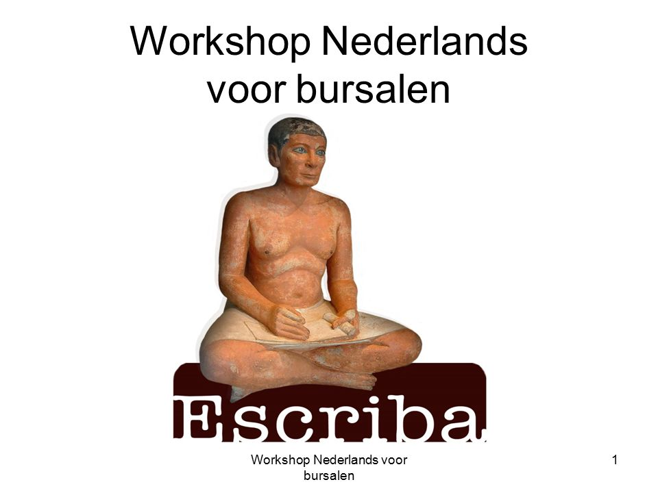 Workshop Nederlands voor bursalen 1