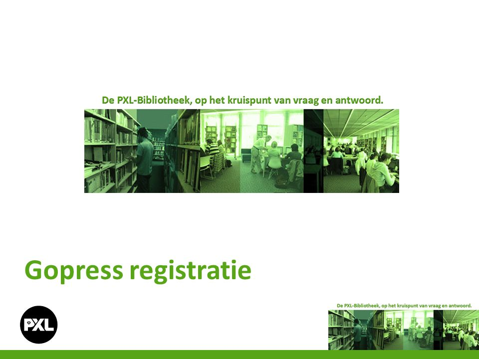 Gopress registratie
