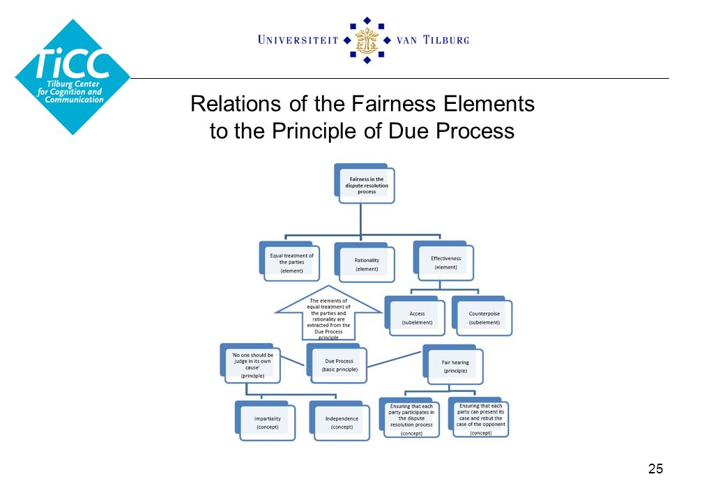 Relations of the Fairness Elements to the Principle of Due Process 25