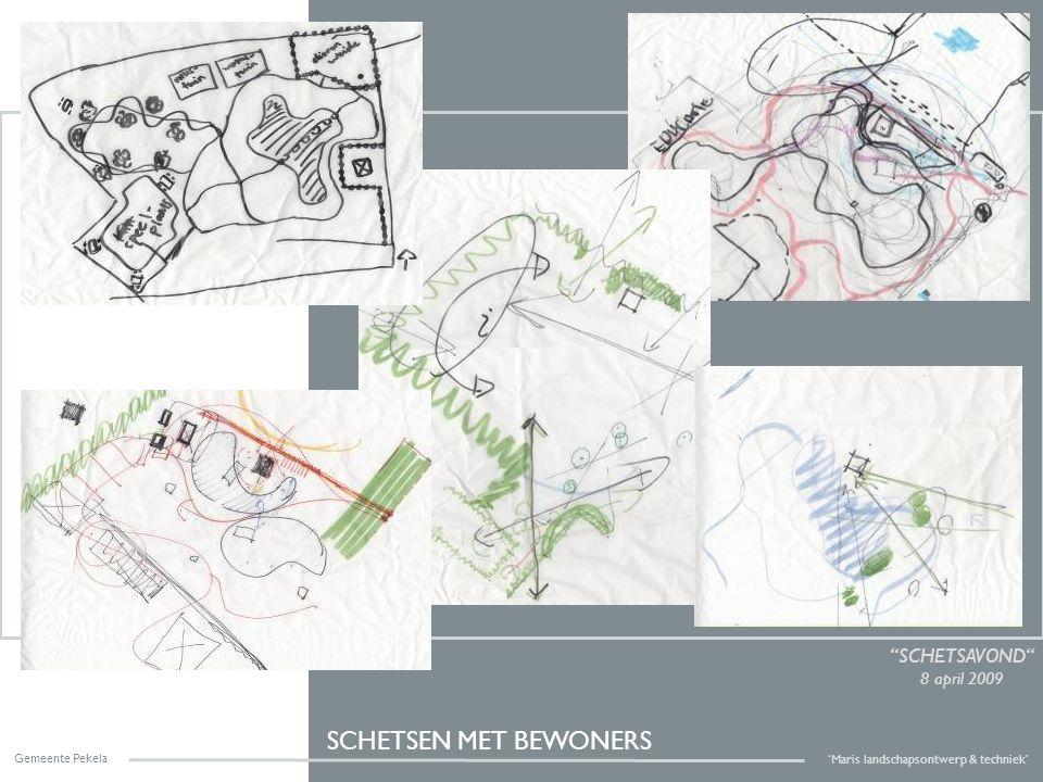 VOORLOPIG ONTWERP concept Gemeente Pekela 'Maris landschapsontwerp & techniek' functies & wensen inpassen water behouden, vervormen en vergroten slingerpad als verbinding casco aanpak van groen openingen en doorkijken maken park structuur geven d.m.v.